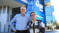 NAMM CEO and President, Joe Lamond, with NAMM Chair, Robin Walenta