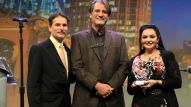 David Sanders with country music singer/songwriter Richard Leigh and Crystal Gayle.