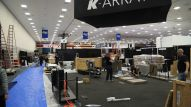 Exhibitors busy setting up for The 2018 NAMM Show