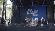 Bands perform on the NAMM Yamaha Grand Plaza Stage