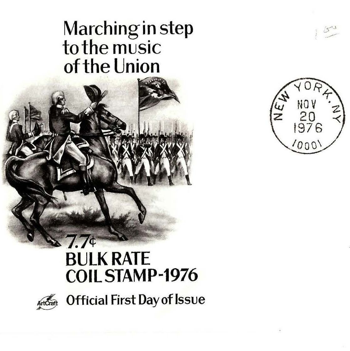 Marching in Step to the Music of the Union FDC