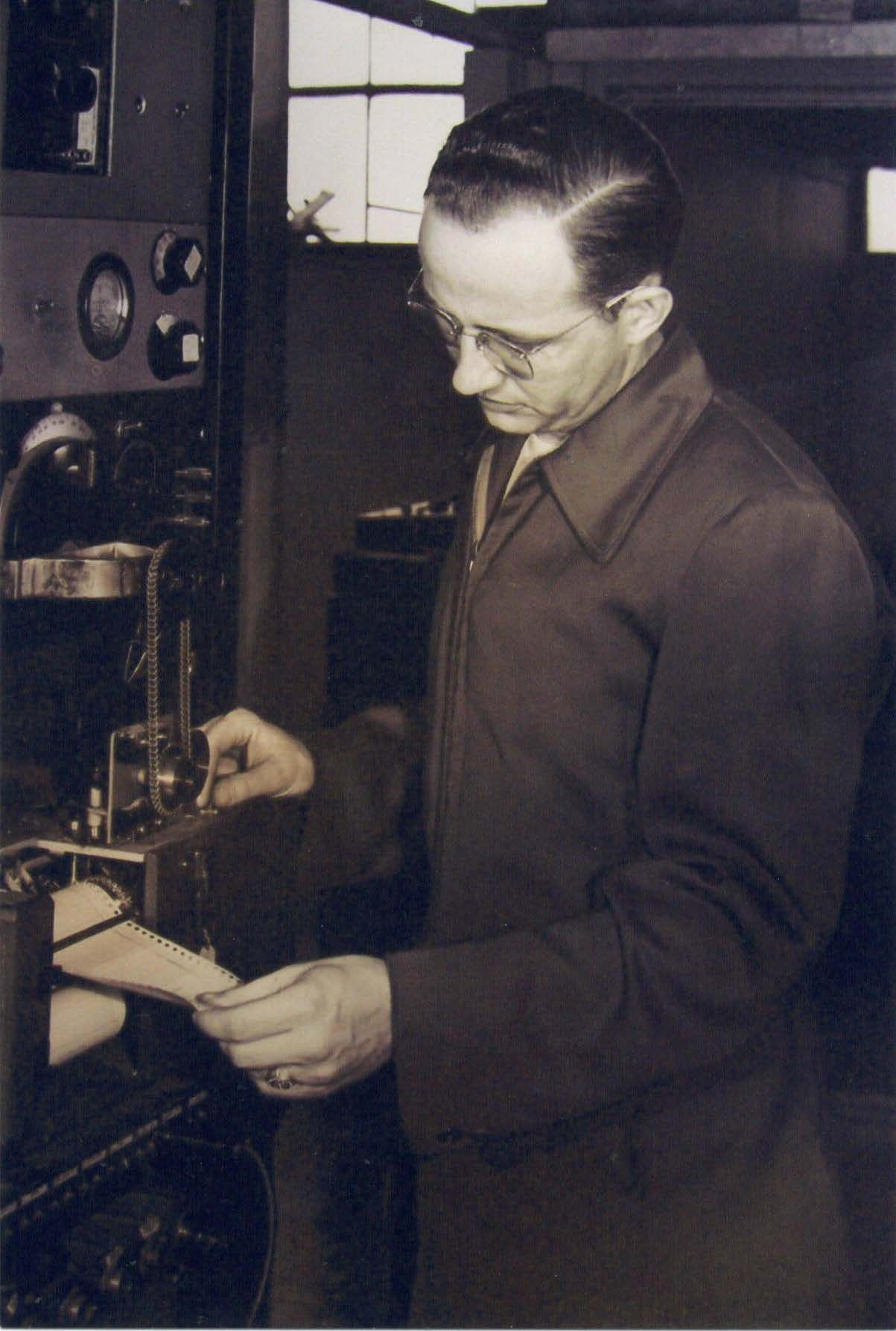 George Riley in the Electro-Voice factory