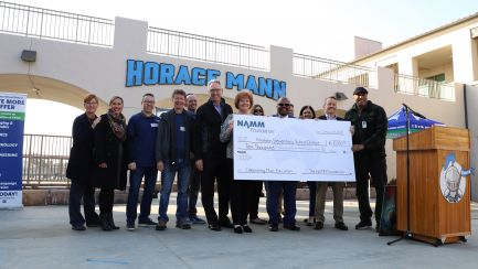 The NAMM Foundation Gifts Anaheim Elementary School District with Donation to Expand Music Making Program
