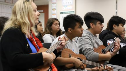 2020 NAMM Foundation Day of Service at Horace Mann Elementary School in Anaheim, California
