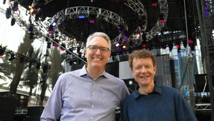 NAMM President and CEO Joe Lamond and NAMM Chair Chris Martin at the NAMM Yamaha Grand Plaza
